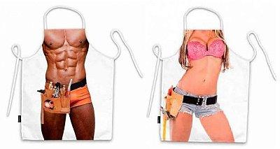 Avental corpo homem e mulher faz tudo