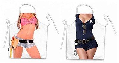 Avental corpo mulher faz tudo e policial