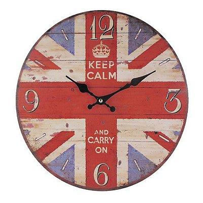 Relógio de parede keep calm