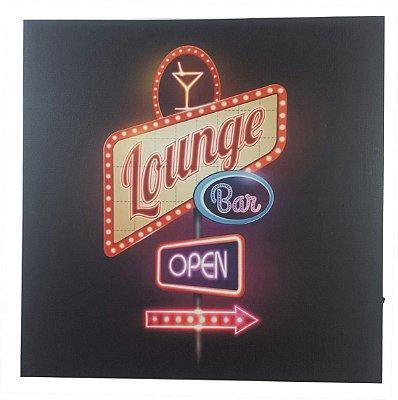 Poster decorativo lounge bar com led