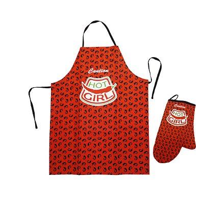 Avental e luva de cozinha pimenta