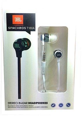 Fone de ouvido JBL T180A branco