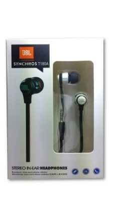 Fone de ouvido JBL T180A preto