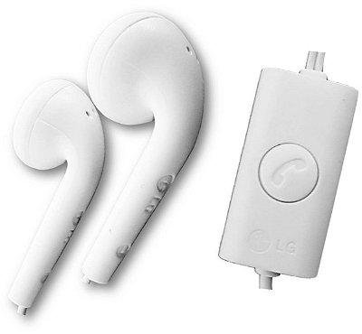 Fone de ouvido LG branco