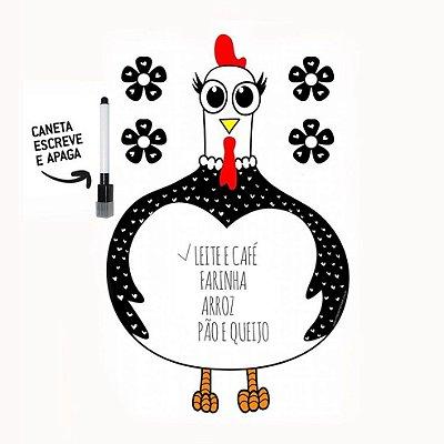 Lousa magnética galinha d'angola