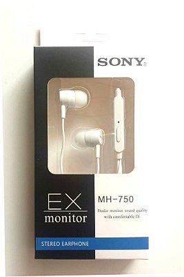 Fone de ouvido Sony EX750 Branco