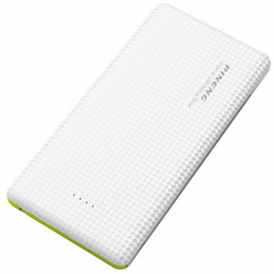 Carregador portátil power bank Pineng 5000Mah Slim branco