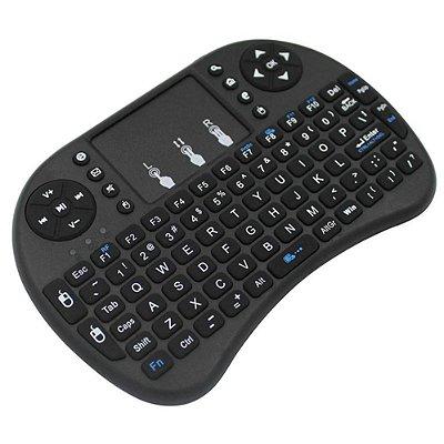 Mini teclado sem fio Wireless Led com função touchpad USB