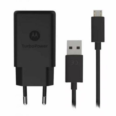 Carregador Motorola Turbo Power Micro USB para Moto G5 Plus