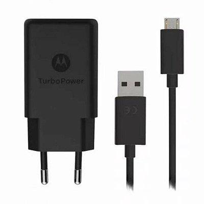 Carregador Motorola Turbo Power Micro USB para Moto G5 Plus