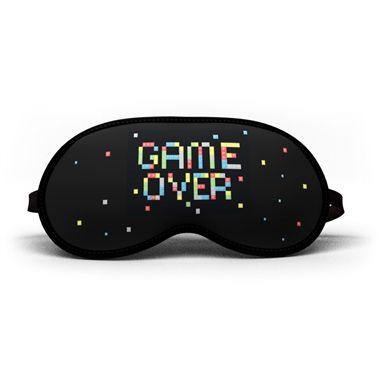 Máscara de dormir game over colorida