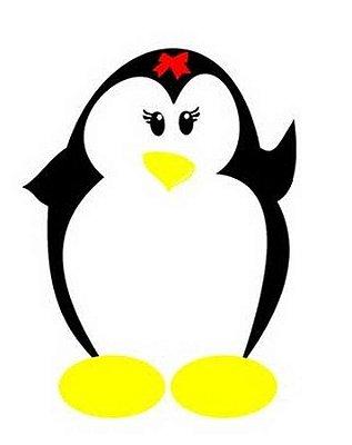 Imã de geladeira pinguinzinha