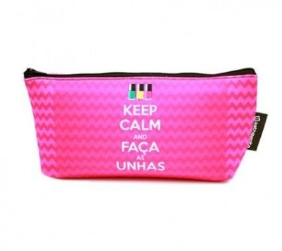 Necessaire keep calm and faça as unhas