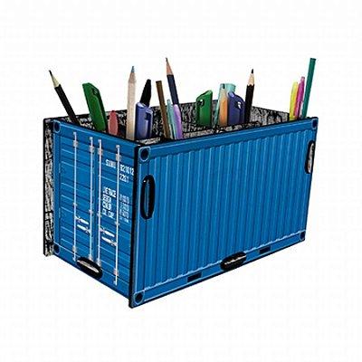 Porta treco container azul