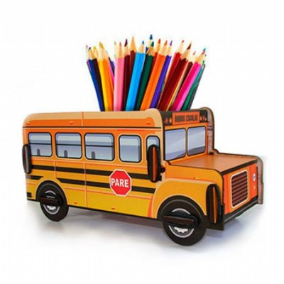 Porta treco ônibus escolar