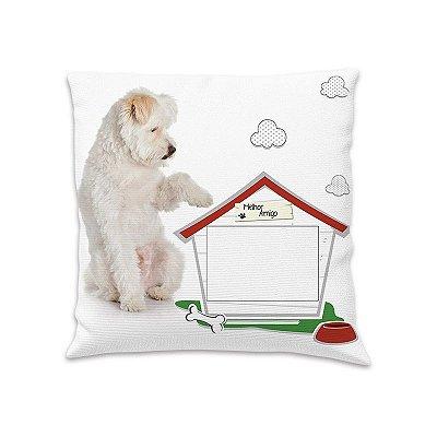 Capa para almofada cachorro foto