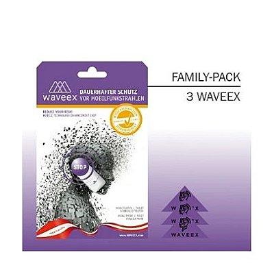 WAVEEX - ( 3 Unidades ) Chip Anti-radiação para Celulares, Tablets, conexão Wi-Fi, Bluetooth e etc.