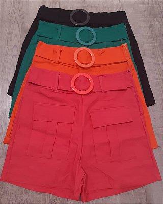 Shorts Bengaline com Cinto