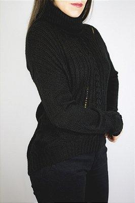 Blusa tricot Gola alta