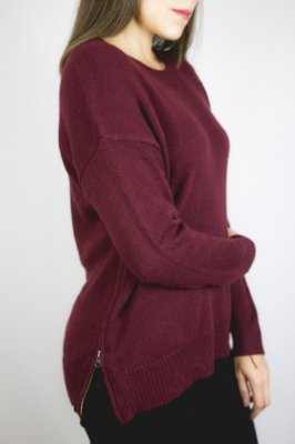 Blusa tricot Ziper lateral