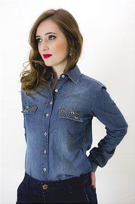 Camisa Jeans Dudalina coleção Floripa