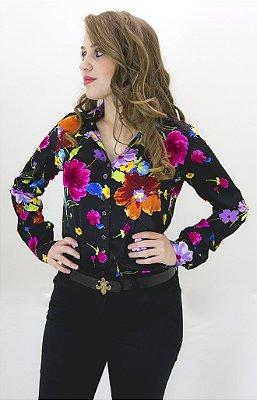 Camisa Seda cetim Dudalina coleção Viena