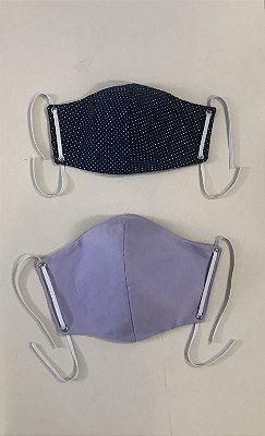 Máscaras Jeans com elástico ajustável