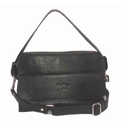Bolsa de Couro Mini Bag Luna Preta