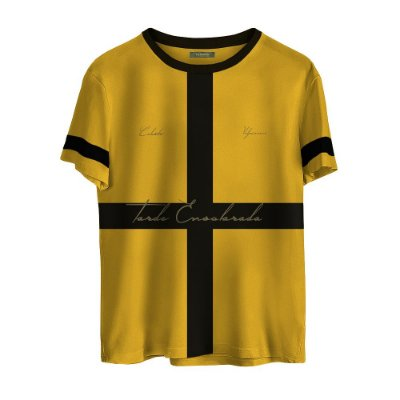 Camiseta Masculina Valparroci Tarde Ensolarada 'Celeste 17' Amarela