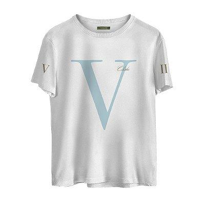 Camiseta Masculina Valparroci V 'Celeste 17' Branca