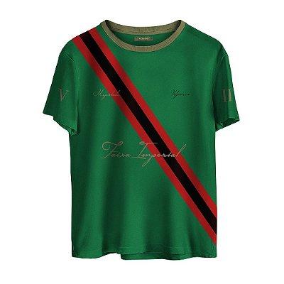 Camiseta Masculina Valparroci Faixa Imperial 'Majestade 17' Verde