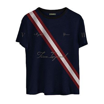Camiseta Masculina Valparroci Faixa Imperial 'Majestade 17' Azul