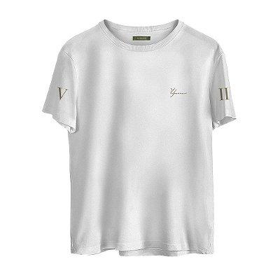 Camiseta Masculina Valparroci 'Majestade 17' Branca