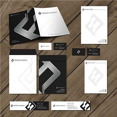 Logotipo + Envelope + Papel Timbrado + Pasta