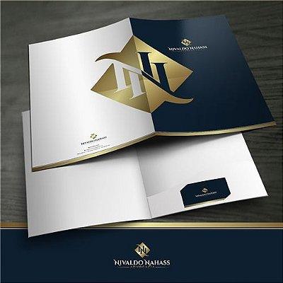 Logotipo, Cartão de Visita, Envelope, Folder sem dobras e Site Corporativo