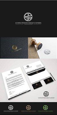 Deselvolvimento de Identidade Visual - Logotipo, Design de Cartão de Visitas, Pasta,  Envelope e Papel Timbrado