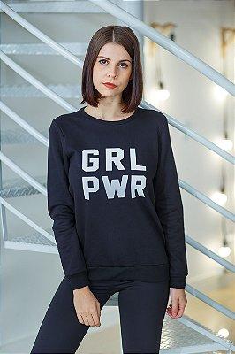 Moletom GRL PWR Preto