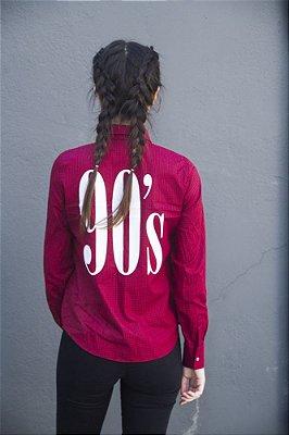 Camisa Grunge 90'S Vermelha