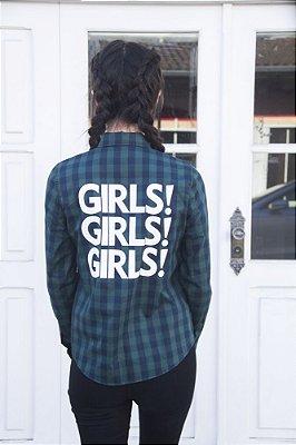 Camisa Xadrez 90´S Girls Verde