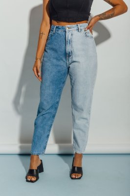 Mom Jeans Dual Blue Maria