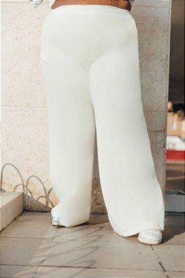 Wide Leg Moletom Off White