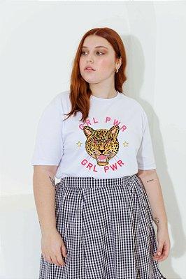 Camiseta Tigre GRL PWR Branca