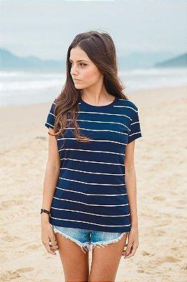 Camiseta Feminina Listrada Canto Grande
