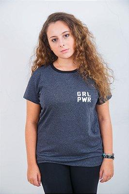 Camiseta Feminina Girl Power Cinza