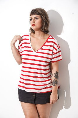 Camiseta Feminina Isla Mujeres Vermelha - MXC