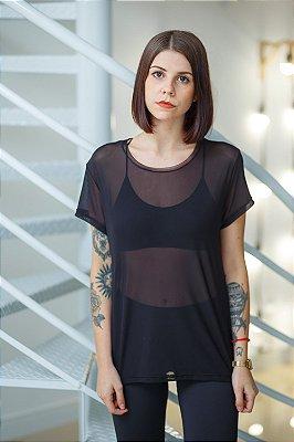 Camiseta Feminina Tule Preta
