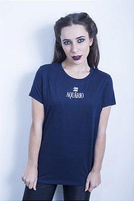 Camiseta Feminina Signo Aquário
