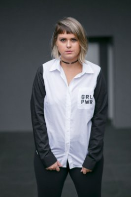 Camisa Feminina GRL PWR Preta