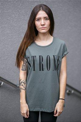 Camiseta Feminina Strong Verde