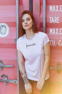 Camiseta Feminina Feminista Rosa